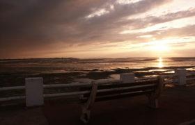 plage du crotoy coucher du soleil