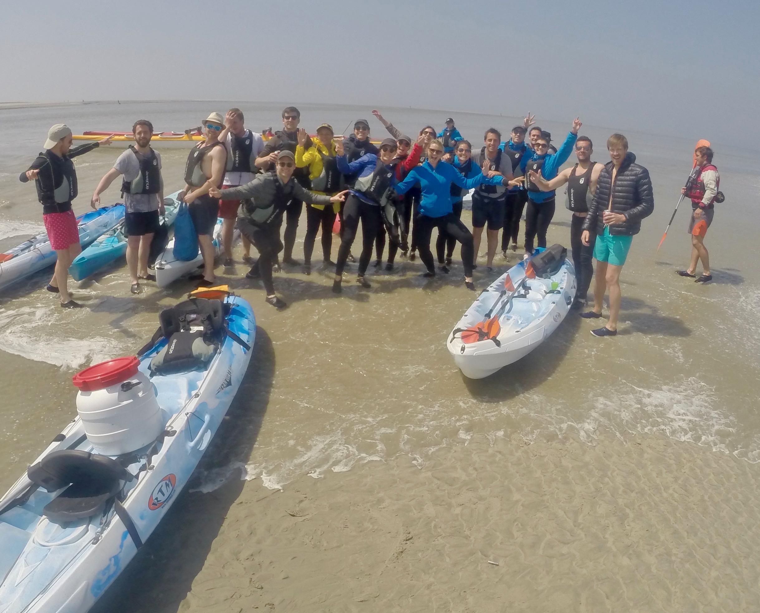 à fond les pirogues et kayaks qui partent du Crotoy