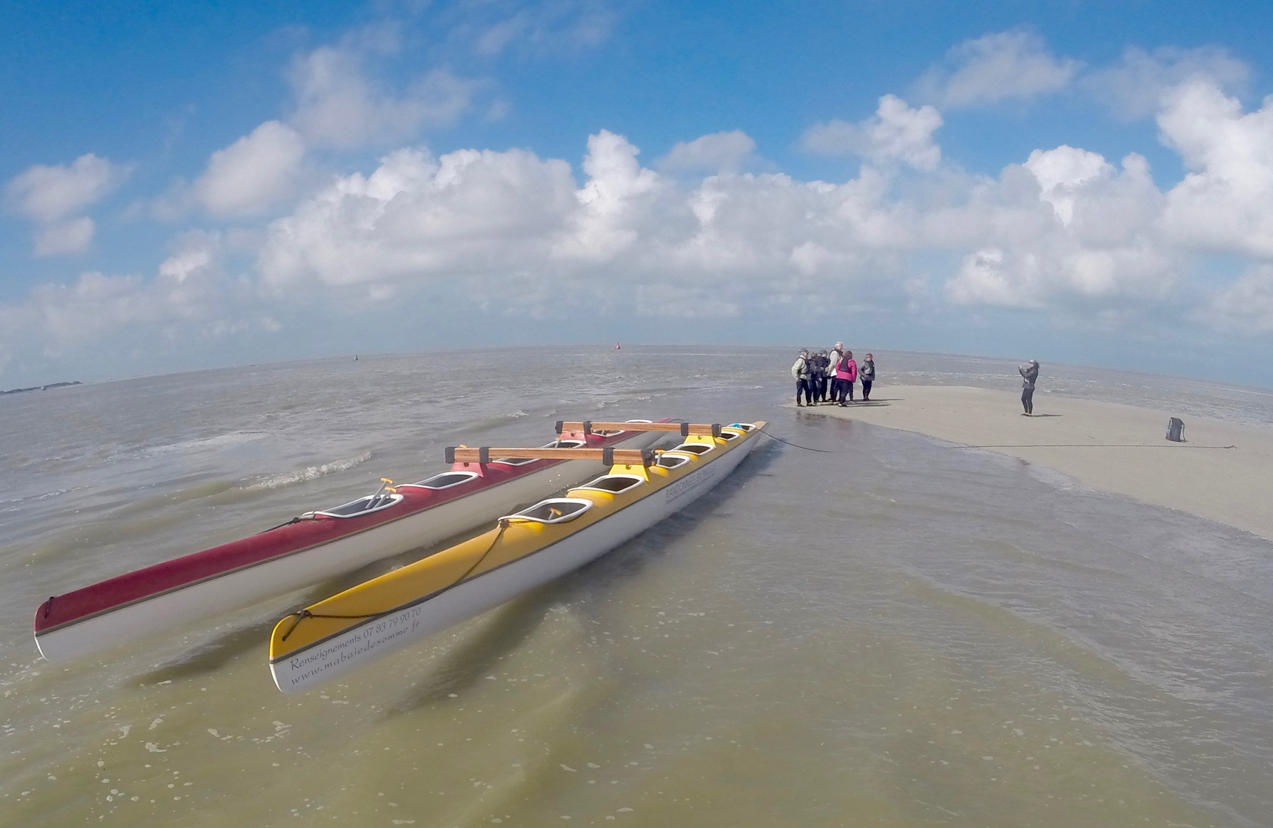 Les pirogues Mabaiedesomme au Crotoy