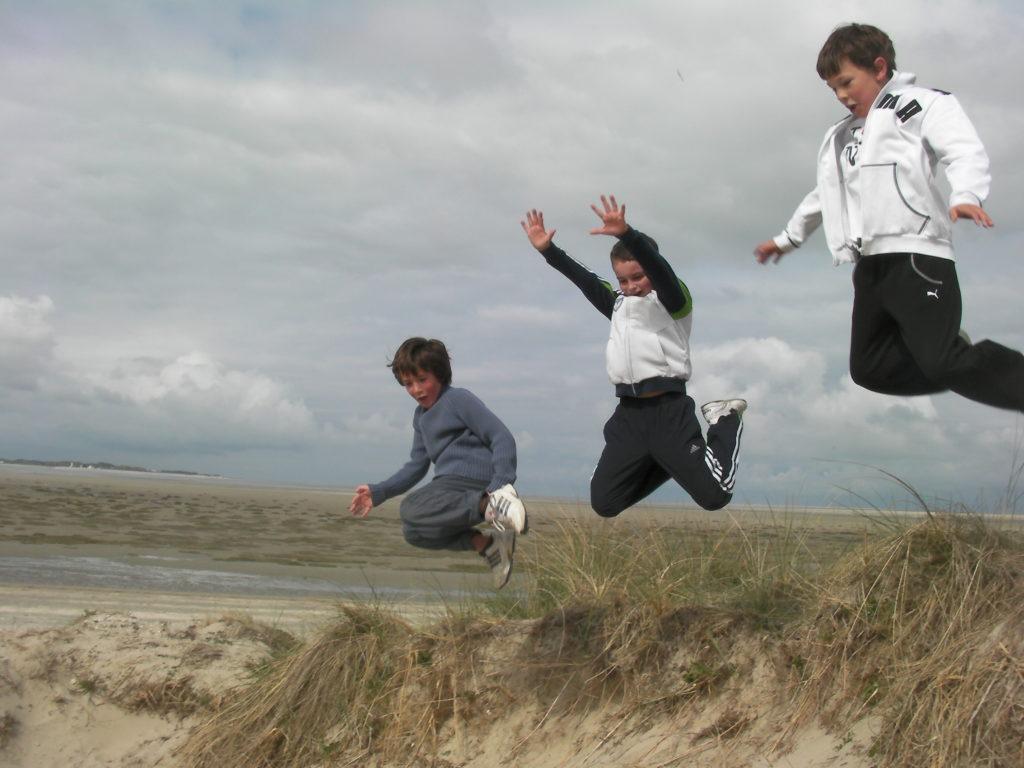 saut des dunes au crotoy en baie de somme
