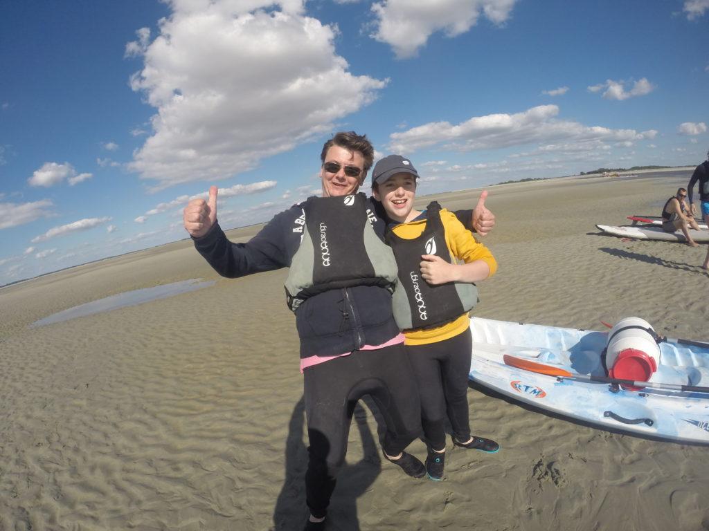 Ambiance assurée avec les locations de kayaks et paddle au crotoy