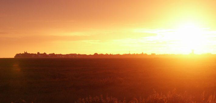 Le Crotoy en feu avec ses couchers de soleil